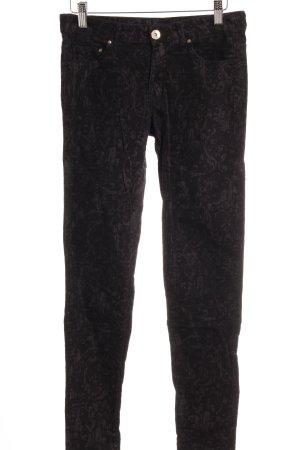 H&M High-Waist Hose schwarz-grau Webmuster extravaganter Stil