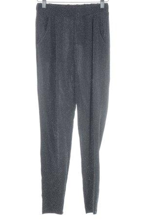 H&M High-Waist Hose schwarz-silberfarben Zackenmuster Elegant