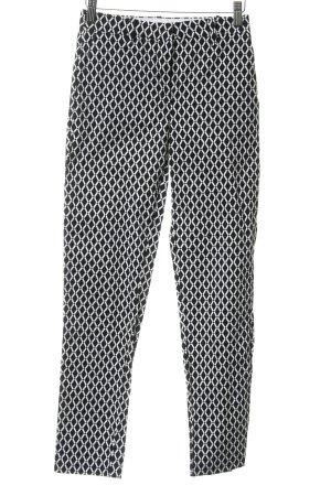 H&M High-Waist Hose schwarz-weiß grafisches Muster Casual-Look