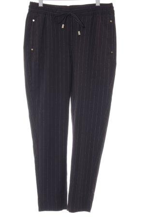 H&M High-Waist Hose schwarz-weiß Streifenmuster Street-Fashion-Look