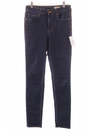 H&M High Waist Jeans dunkelblau Street-Fashion-Look