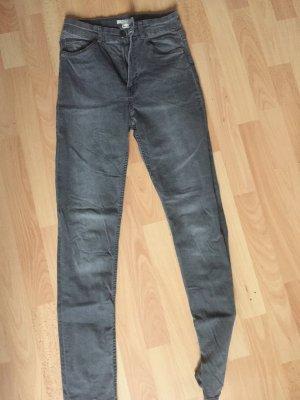 H&M High Waist Jeans grau 36