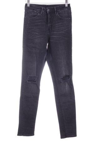 H&M High Waist Jeans schwarz-dunkelgrau Casual-Look