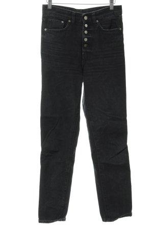 H&M High Waist Jeans schwarz Vintage-Look