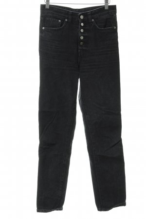 H&M Hoge taille jeans zwart vintage uitstraling