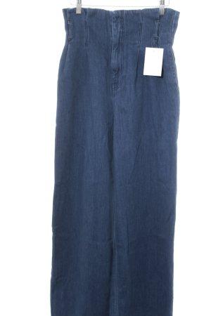 H&M High Waist Jeans stahlblau Casual-Look