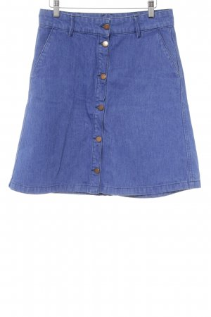 H&M High Waist Rock blau Casual-Look