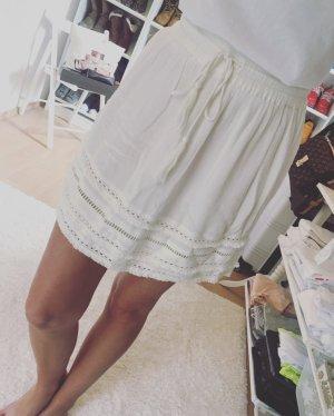 H&M Jupe évasée blanc-blanc cassé