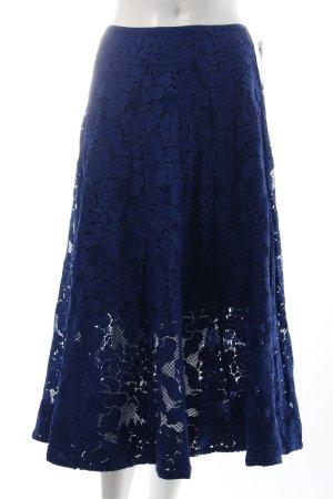H&M High Waist Rock dunkelblau Gypsy-Look