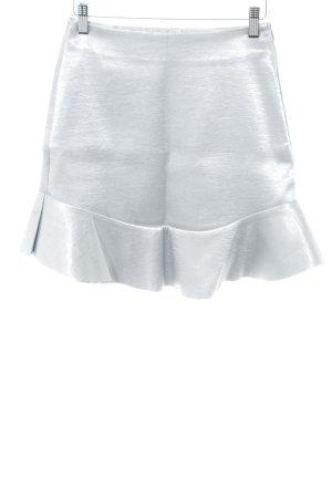 H&M Falda de talle alto color plata elegante