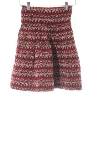 H&M Falda de talle alto diseño de espiga estilo fiesta