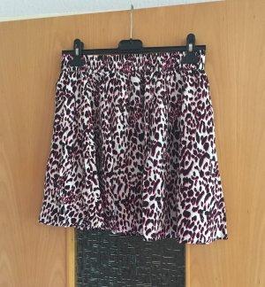 H&M high waist Rock gr. 40 Leo Print schwarz pink weiß Blogger