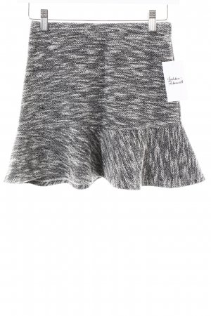 H&M High Waist Rock grau-wollweiß Kuschel-Optik