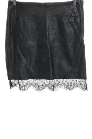 H&M Jupe taille haute noir style cuir