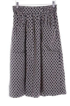 H&M Rok met hoge taille zwart-wit abstract patroon casual uitstraling