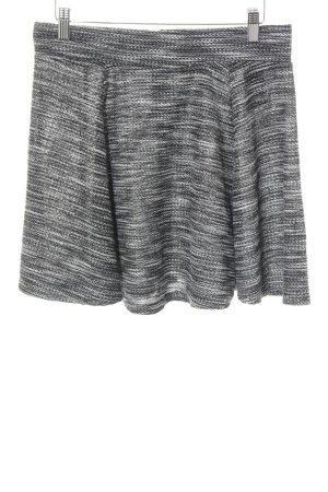 H&M High Waist Rock schwarz-weiß meliert Casual-Look