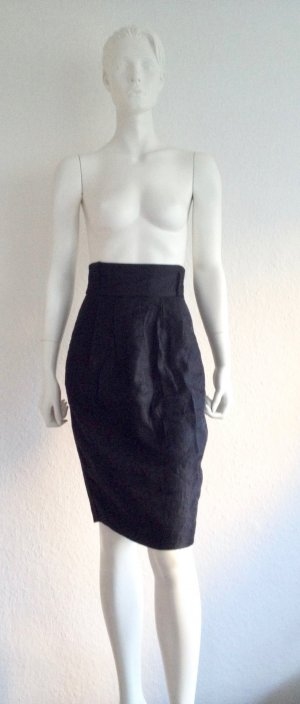 H&M High Waist Rock XS Schwarz Used