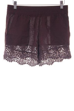 H&M High-Waist-Shorts braunrot Ethno-Look