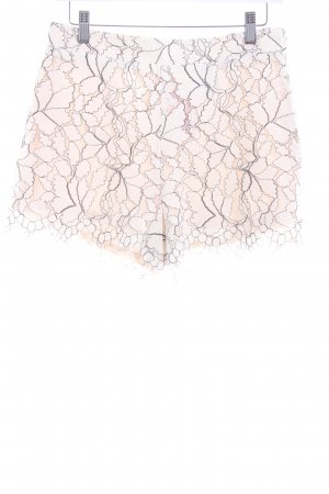 H&M High-Waist-Shorts florales Muster Spitzen-Optik