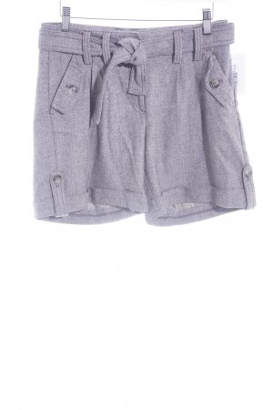 H&M High-Waist-Shorts graubraun-creme grafisches Muster Casual-Look