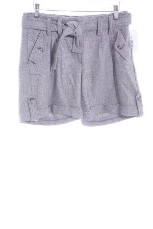 H&M Short taille haute gris brun-crème motif graphique style décontracté