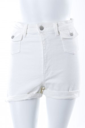 H&M High Waist Shorts weiß