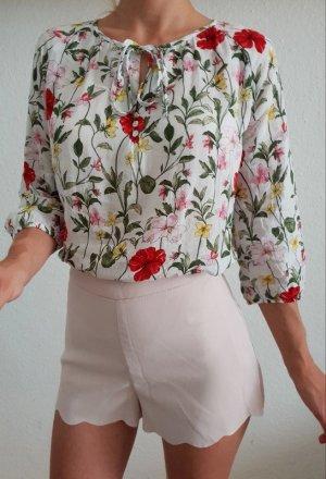 H&M high waist Shorts XXS XS 32 34 nude rosa Röhre Hose Hot Pants Neu