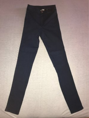 H&M Divided Drainpipe Trousers dark blue