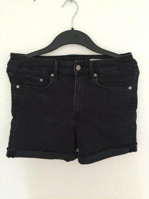 H&M High waisted Jeans Shorts Schwarz