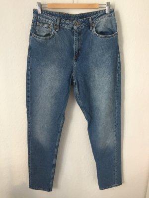 H&M  High Waisted Mom Jeans Blau
