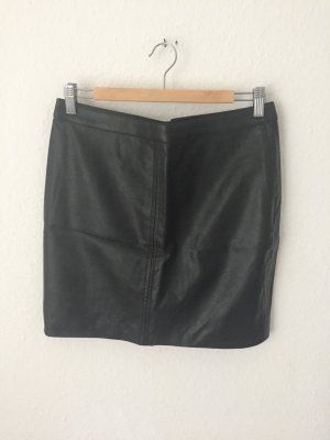 H&M High Waisted Rock in Leder Optik
