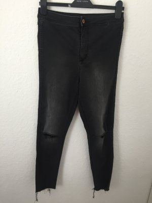 H&M High Waisted Skinny Jeans Destroyed