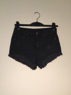 H&M High Wasit Shorts Denim 36 dunkelgrau
