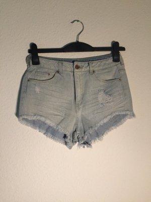 H&M High Wasit Shorts Denim 36 hellblau