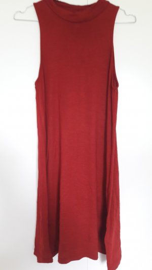 H&M Highneck Kleid ausgestellt 60ies weinrot Gr. S