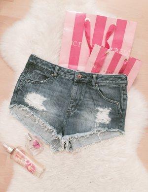 H&M Highwaist Shorts Blogger Destroyed Hot Pants Oversize Gr.S