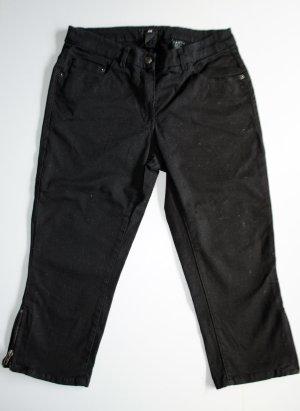 H&M HM Capri 3/4 Hose mit Zipper schwarz, Größe 36 (wie 27) schwarz, NEU