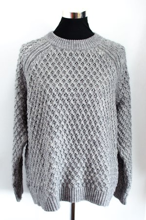 H&M Oversized Sweater silver-colored