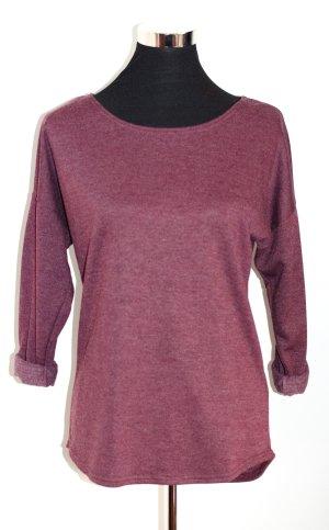 H&M HM leichtes Sweatshirt, weinrot, Gr. XS wie 36, ungetragen