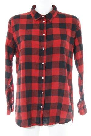 H&M Holzfällerhemd rot-schwarz Karomuster Casual-Look