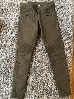 H&M Kaki broek groen-grijs