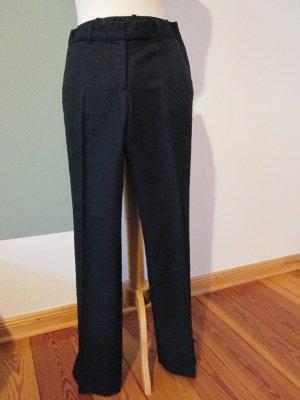 H&M Hose Anzughose gerades Bein Leinen/Baumwolle Gr. 36