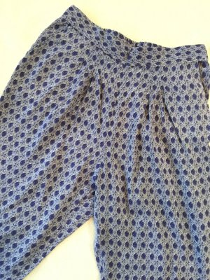 H&M Hose blau Muster Stoffhose Gr. XS weiß