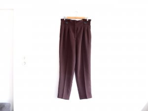 H&M Hose Braun Gr. 40 Stoffhose Anzughose Chino High Waist Karotte