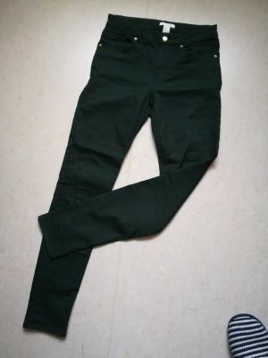 H&M Pantalon cigarette vert foncé