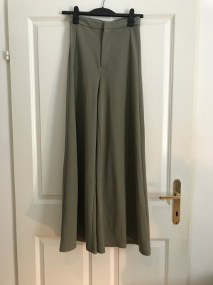 H&M Marlene Trousers green grey polyester