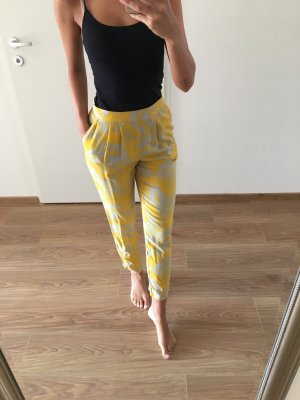 H&M Hose gelb Muster XS