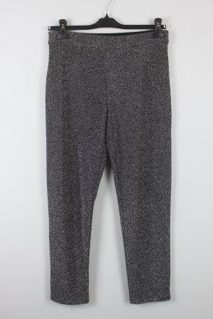 H&M Pantalon noir-gris clair polyester
