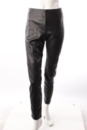 H&M Hose in Lederoptik schwarz