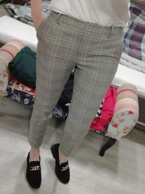 H&M Hose Karo kariert Glencheck Ankle Crop Slim Fit 38